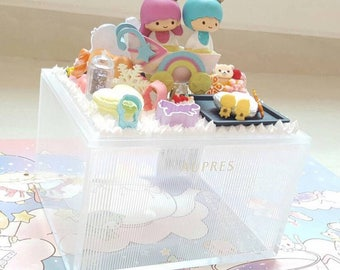 Handmade Little Twin Stars On Baby Pram Decoden Aupres Box