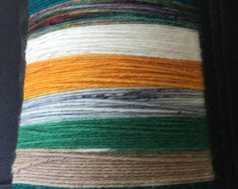 Seventh heaven, 7 stripes sock yarn.