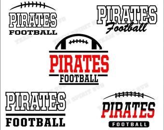 Pirates Football Bundle Download Files - SVG, DXF, EPS, Silhouette Studio, Vinyl Files, Digital Cut Files - Use with Cricut and Silhouette