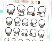 breakfast emotis - emoti planner stickers E140