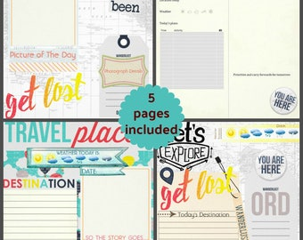 Get Lost Travel Journal Pages