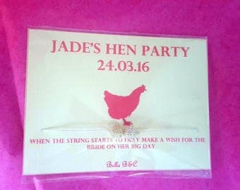 Hen Party Personalised Favours