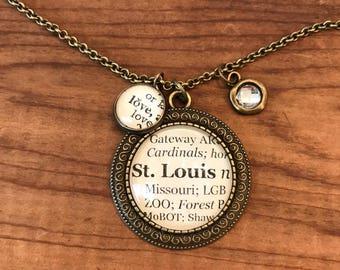 St Louis Charm Necklace