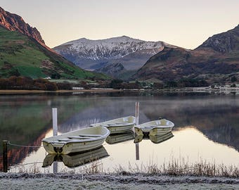 Limited Edition Artist Prints, Landscape Photography, Photographic Prints, Art Canvas For Sale, Snowdon Llyn Nantlle, Snowdonia, Wales UK.