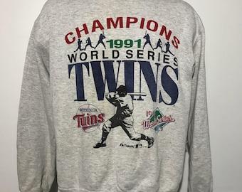 Vintage 1991 Minnesota World Series Champs Sweatshirt L