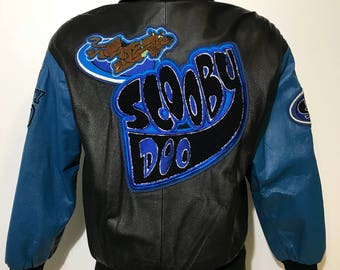 Vintage Scooby Doo Leather Jacket S