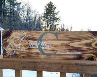 Custom Painted Wood Name Sign
