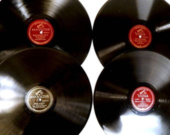 Four Vintage 78 RPM Records - Caruso, Stokowski, Whiteman, Ormandy and others