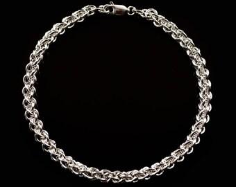 Jens Pind Bracelet, Sterling Silver Chain Maille Bracelet, Wedding, Anniversary, Graduation, Birthday, Christmas, Graduation, HeiClaire