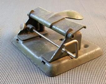 Vintage 2-Hole Punch--Rex 14--Drab Green