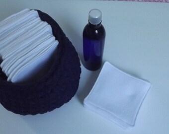 set of 20 large wipes washable special sensitive skin