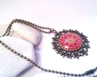Orange rose necklace