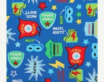 Sale Blue Superhero Costume Fabric from Timeless Treasures