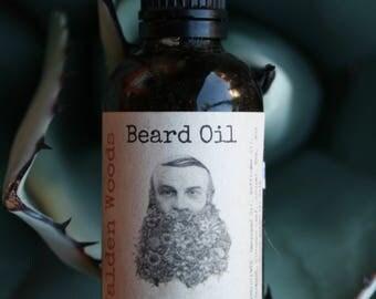 Beard Oil 2oz - Handmade - Hempseed and Safflower Oils, Sandalwood, Cinnamon Leaf, Juniper Berry, Bay and Anise Essential Oils