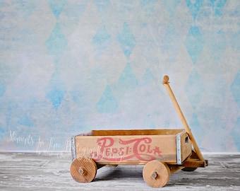 MIT Pepsi Cola Wooden Wagon Backdrop