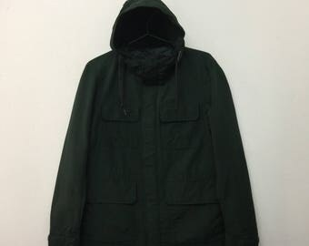 Uniqlo Hoodie Jacket/Uniqlo Army Style 4 Pockets Jacket/Dark Green/Size S
