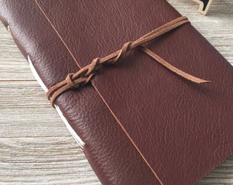 Personalized Leather Journal handmade, Brown, FREE personalization, lined or plain paper