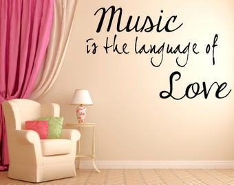 Music Is The Language Of Love Vinyl wall decal sticker