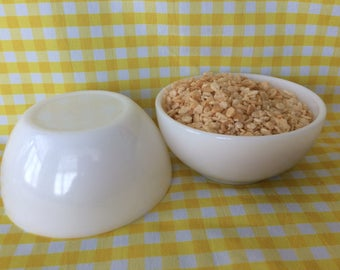 Vintage Fire King and Federal glass cereal bowls milk glass