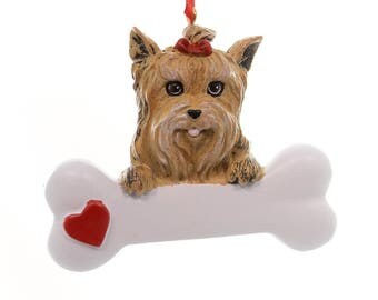 Yorkie Personalized Christmas Ornament, Ornament, Yorkie, Personalized, Yorkie Gift