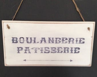 Small French Vintage Style Kitchen Wall Sign