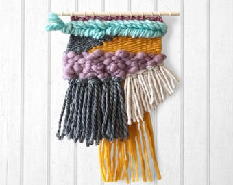 Adorable Tapestry Weaving | Handwoven Wall Hanging (1 of 3 in a series)
