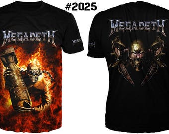 "Fantastic heavy metal men's hard rock 3 d t-shirt ""megadeth"""