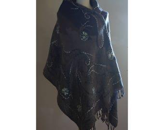 Handmade Wool Embroidered Shawl