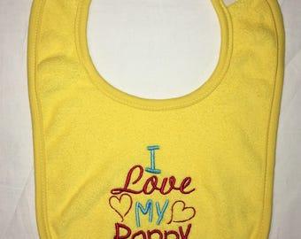 I love my Poppy custom embroidered bib