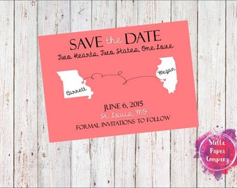 States Away Save the Date (Digital Download)
