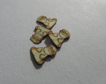 set of 12 thin slices for nail jewelry 26