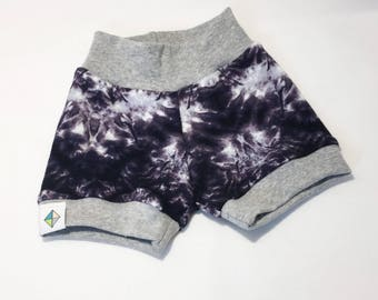 Black & White Tye-Dye Shorties