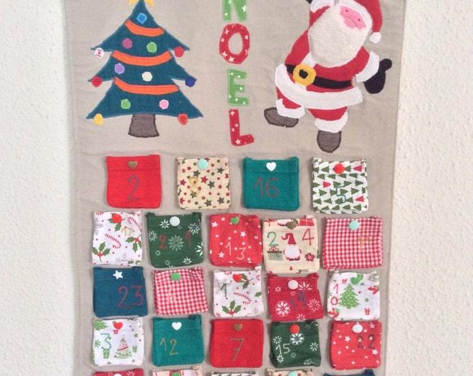 Fabric & is 100% advent calendar hands
