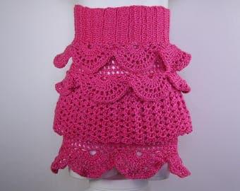 skirt fuchsia girl 3 to 4 years crochet
