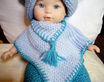 """Doll's clothes for a 12"""" long doll."""