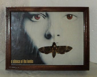 Real moth framed DEATH'S HEAD Moth in the movie silence of the lambs.