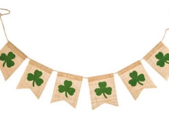 St. Patricks Day Glitter Banner