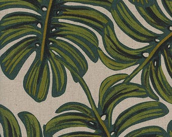 Cotton + Steel- Monstera in Natural in Canvas/Linen- Menagerie- Rifle Paper Co.