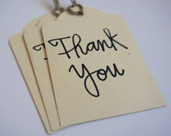 Hand Lettered Thank You Tags