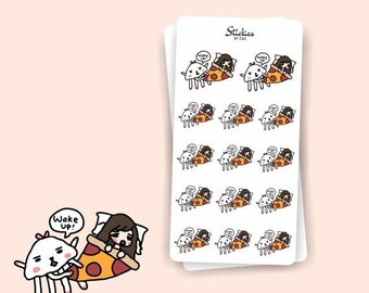SALE Can't GET OUT of Bed Sarah | Planner Stickers, Sleepy, Stay Home, Cute Monster, Cozy, Stay in Bed, Too Early, Nap | Sd26