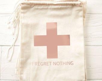 Hangover Kits, Bachelorette Party Favor, Hangover Kit Bags, Bachelorette Party, Bachelorette Bags, Hangover Emergency Kit, I Regret Nothing