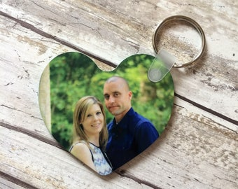 Personalized Keychain, Photo Keychain, Heart Shaped Keychain, Photo Gift, Personalized Gift, Wedding Favor, Personalized Party Favor