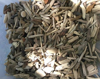 Beautiful Bulk Lot of TINY Little Small Pieces of Driftwood Pieces, Surf-Tumbled, Drift Wood ~ For Jewlery Frames Wreaths Crafts Birdhouses