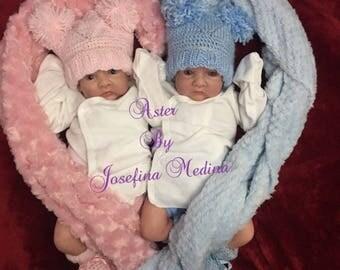 Aster reborn newborn baby doll~twin A
