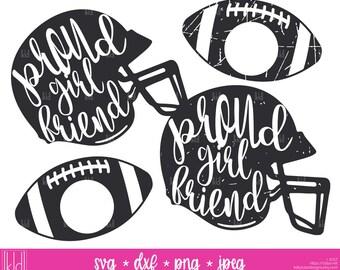 4 Proud Girlfriend svgs - Football Girlfriend svg - Girlfriend svg - Football Helmet svg - Football svg - Football Girlfriend