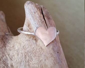 Valentines heart Sterling ring