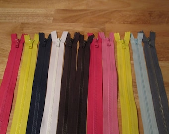 11 Zippers, YKK Separating Zippers Length 16 inches and Length 20 inches
