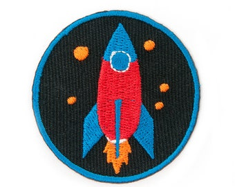ROCKET EMBROIDERED IRONONPATCH
