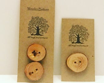 Rustic Wooden Tree Branch Buttons