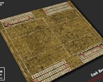 Battle mat: Crack Bowl - Blood Bowl game board, table map scenery for fantasy football boardgame terrain